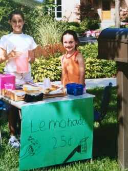 Lemonade stand-Young Allison and Amanda