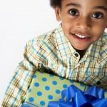 Boy Giving Gift